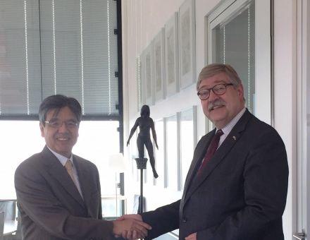 Ontvangst Japanse ambassadeurde, de heer Hiroshi Inomata