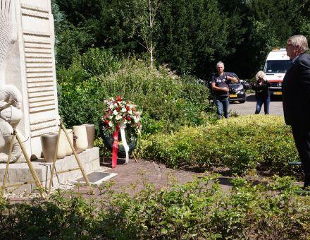 Herdenking capitulatie Japan monument gemeentehuis Bilthoven